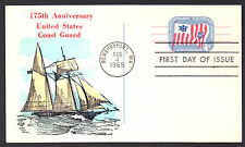 UX52 COAST GUARD 175th Anniv Hard to Find Overseas Mailer Color Cachet   LOT 639