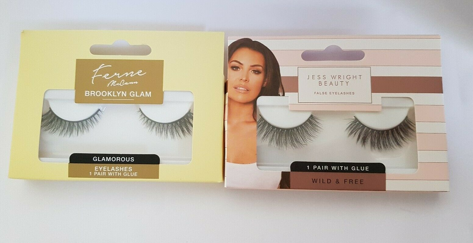 Jess Wright Beauty False Eyelashes Wild 1 Pair Glue Glam Fake Volume For Sale Online Ebay