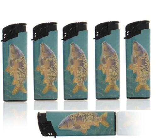 Electronic Refillable Carp Fish Lighters 1-5pc 5 Models Carp Fish Lighters