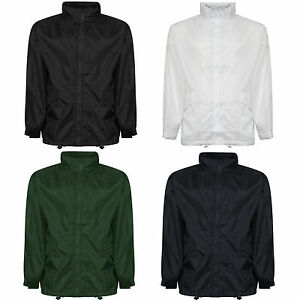Men/'s Ladies Womens Unisex Work Cagoule Rain Jacket Raincoats