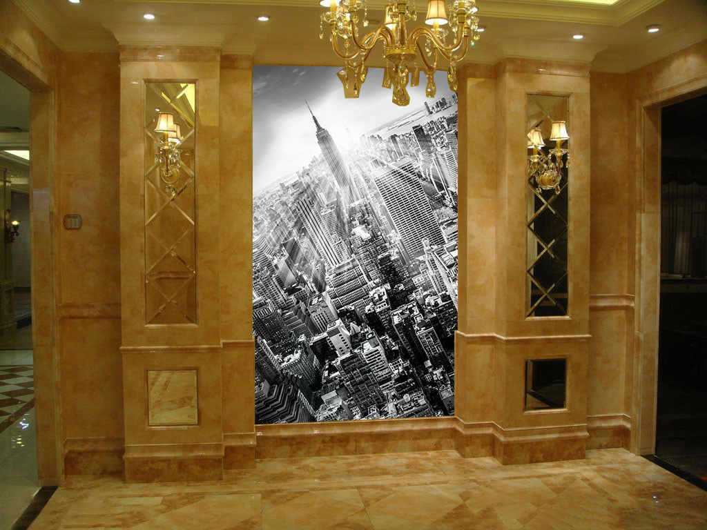 3D Stadt Gebäude 789 Fototapeten Wandbild Fototapete Bild Tapete Familie Kinder