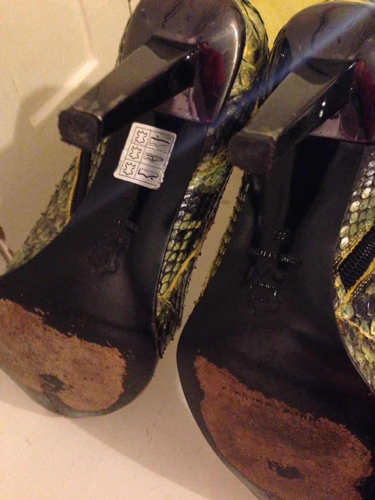 Ladies Boots, Size UK 3, Italian Designer, Real Crocodile Crocodile Crocodile Skin, Snake STUNNING 7d997b