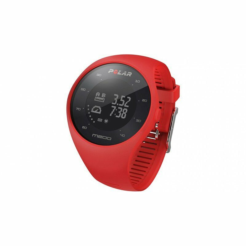 Polar M200 GPS Running Watch With Optical wrist based Heart Rate Red Freeship