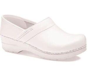 cb9469b70cd8 Dansko 6212 Womens White Leather Professional Slip on Clogs Shoes 41 BHFO