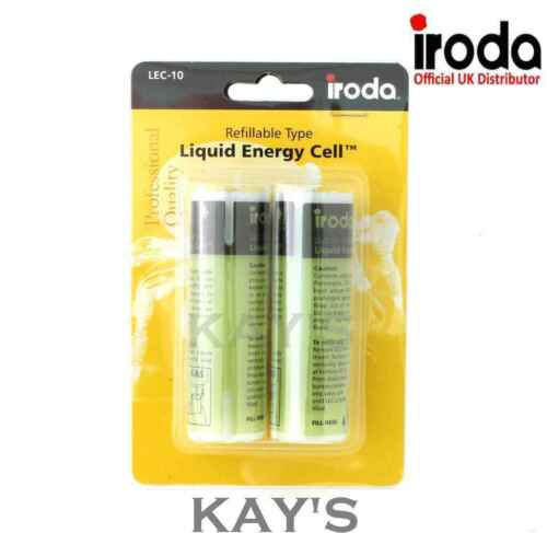 LEC-10 REFILLABLE FUEL CELLS FOR PRO IRODA 180 GAS SOLDERING IRON TWIN PACK