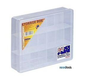 Box-of-12-STORAGE-BOX-14-Compartment-200x160x50mm-Fischer-1H039-Parts-box
