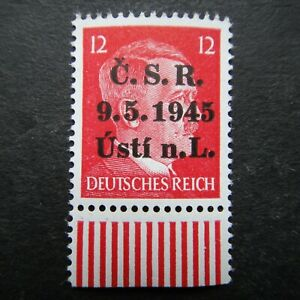 Germany Nazi 1941 1944 1945 Stamp MNH Adolf Hitler Overprint WWII Third Reich Ge