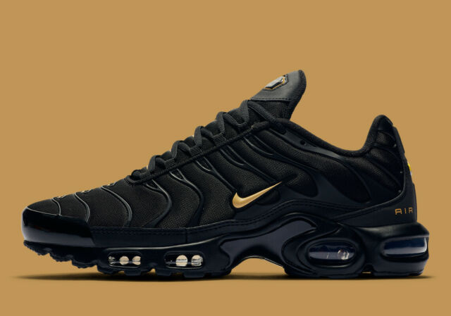 Nike Air Max Plus Tuned Tn Black/Team Gold Men's Trainers UK 6-12