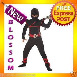 CK26-Stealth-Ninja-Child-Kids-Boys-Fancy-Dress-Up-Party-Halloween-Costume