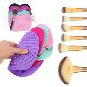 Silicone-Makeup-Brush-Cleaner-Pad-Washing-Scrubber-Board-Mat-Cosmetic-Hand-Tool