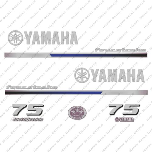Yamaha 75HP Four Stroke Outboard Engine Decals Sticker Set reproduction 2013
