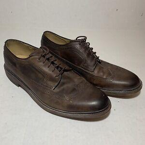 Frye-James-Wingtip-Men-s-Oxfords-Shoes-Brown-Leather-Size-13D