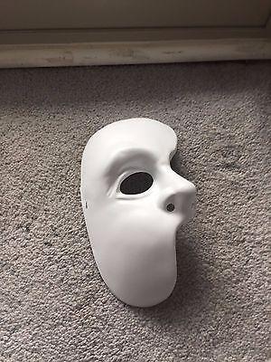 Phantom Of The Opera 1/2 Costume Mask Rubies New