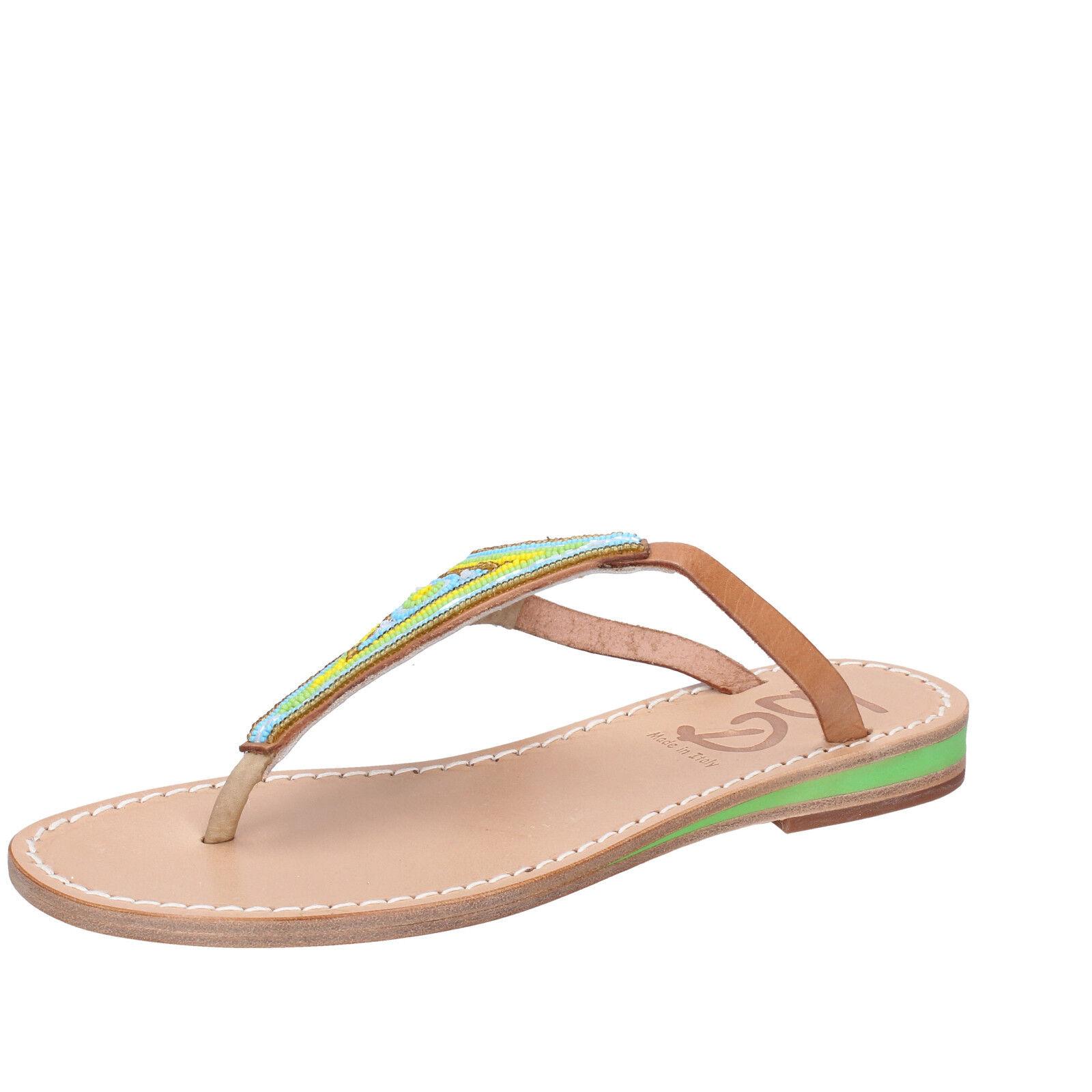 Women's shoes EDDY DANIELE 7 (EU 37) sandals multicolor leather AW384-37