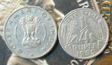 1955 - ¼ Rupee Nickel – 2.73 g – ø 19 mm - india