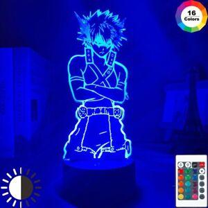 Anime My Hero Academia Figure 3D Led Night Light Home Decor Table Lamp Xmas Gift