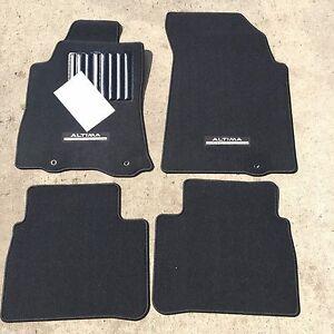 Oem Nissan Altima 2016 2018 4 Pce Carpet Floor Mat Set Midnight Black Edition Ebay