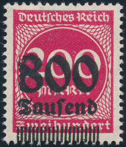 DR-1923-MiNr-303-I-tadellos-postfrisch-gepr-Infla-Mi-70
