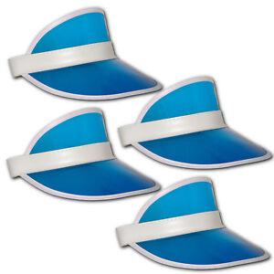 4x-Retro-Sun-Visiere-Chapeau-Poker-Bonnet-Casquette-avec-Plastique-Ombrelle