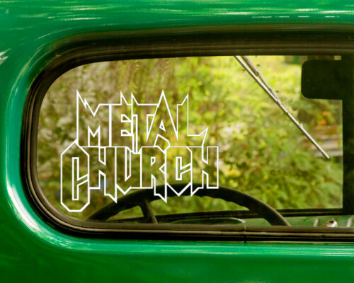 2 METAL CHURCH BAND DECALs Stickers Bogo For Car Truck Window Bumper Laptop