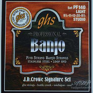 Cordes-Ghs-5-Strings-Banjo-Light-American-serie-J-D-Crowe-Signature-Inox-PF140