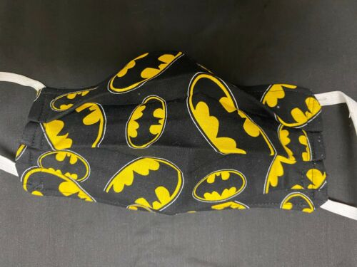 2 Layer Cotton BRAND NEW Sealed shipping Reversible Batman Face Mask Washable