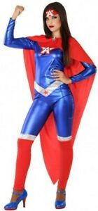 Juste Déguisement Femme Captain Comics Xl 44 Super Héro Marvel Neuf Pas Cher Fabrication Habile
