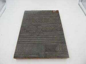 Details about Vintage Printing Plate Bank Daily Report 1950s  Chandler-Wilbert Vault Co