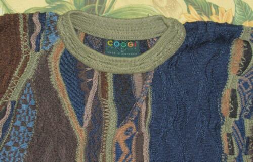 Mens Vtg COOGI Brown Blue Colorful Australia Sweat