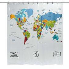 Item 4 Saturday Knight The World Peva Bathroom Shower Curtain Multicolor 70x72