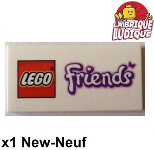 Lego 1x Tile Decorated 2x4 Friends Logo Butterfly 87079pb124 New