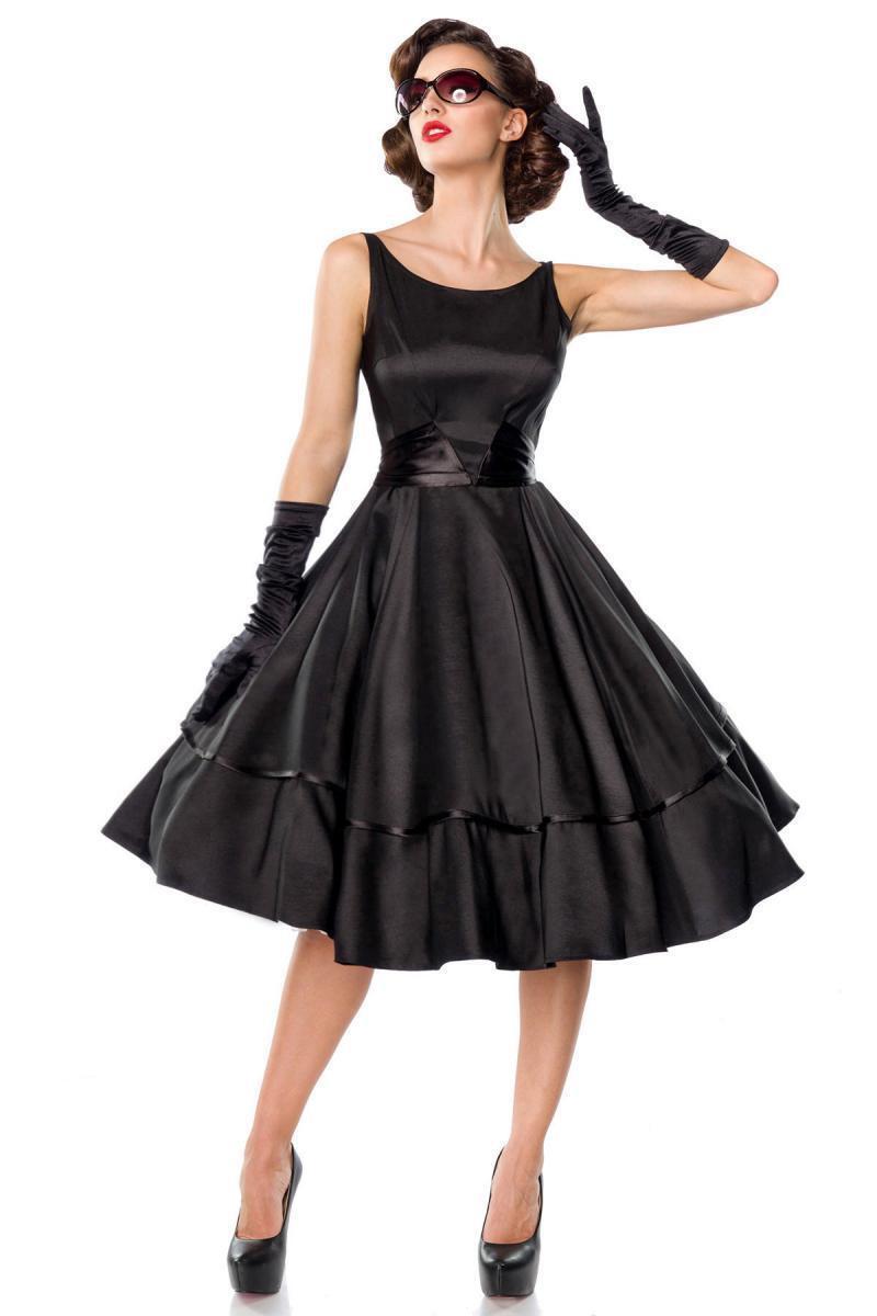 Abito femminile anni 50 elegante classico vintage retrò vestito schwarz uy 50125
