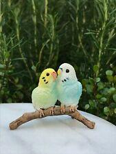 Miniature Dollhouse FAIRY GARDEN Accessories ~ Mini Cozy Owls Owl Couple Branch