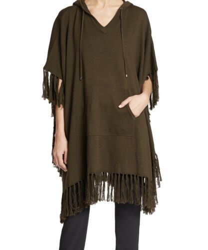 Haute Hippie Green Military Poncho Sweater Endless
