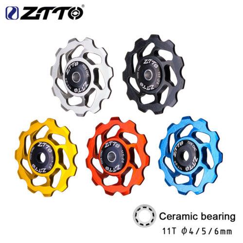 11T BIke Rear Derailleur Jockey Wheel Ceramic bearing Guide Roller  Multicolor