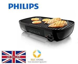 TOP-Philips-Elektro-Tischgrill-HD6321-20-2000W-Duo-Hot-Plate-gerippt-glatt