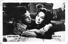 B55188 Jorge Mistral and Maria Felix Couple Acteurs Actors 9x7cm