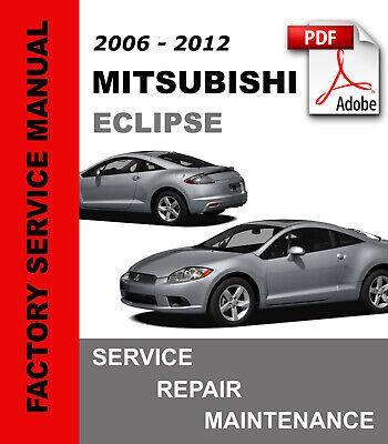 mitsubishi eclipse 2006  2012 factory service repair manual maintenance  wiring  ebay