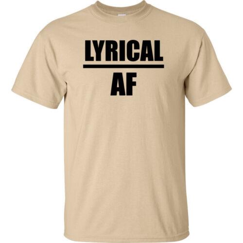 Lyrical AF Black Logo T Shirt Mens Rap Hip Hop Music Adult Funny Joke Merch Tee