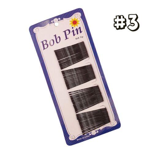 1Sheet Hair Clips Black Bobby Pins Hair Grips Slides Metal Hairpins Accessories