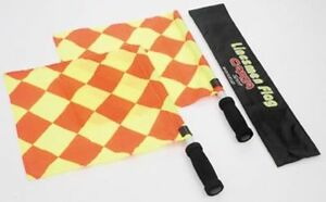 Referee-Linesman-Flag-Stick-Set-Case-Carta-W-Cup-Red-Yellow-Football-Equipment