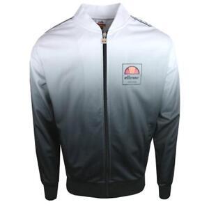 826366c951 Details about Ellesse Men's Track Top Jacket Logo White Fade Jaynefi XL