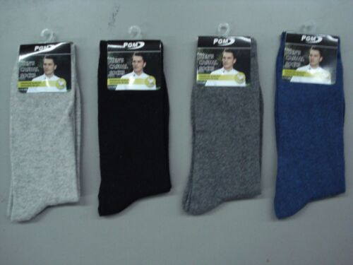 NWT Men/'s PGM Merino Wool Casual Socks Size Large Multi 4 Pair #925K
