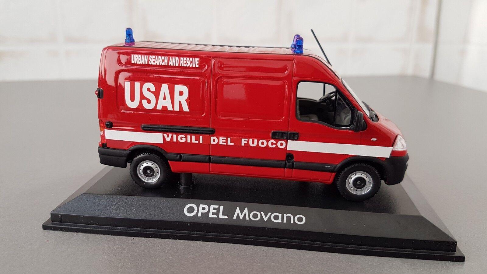 VIGILI DEL FUOCO -POMPIERI -FIRE ENGINE-  OPEL MOVANO 1 43 USAR