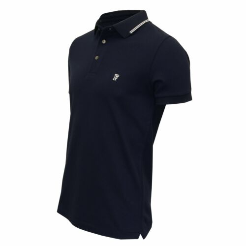 French Connection Tipped Pique Men/'s Polo Shirt Navy