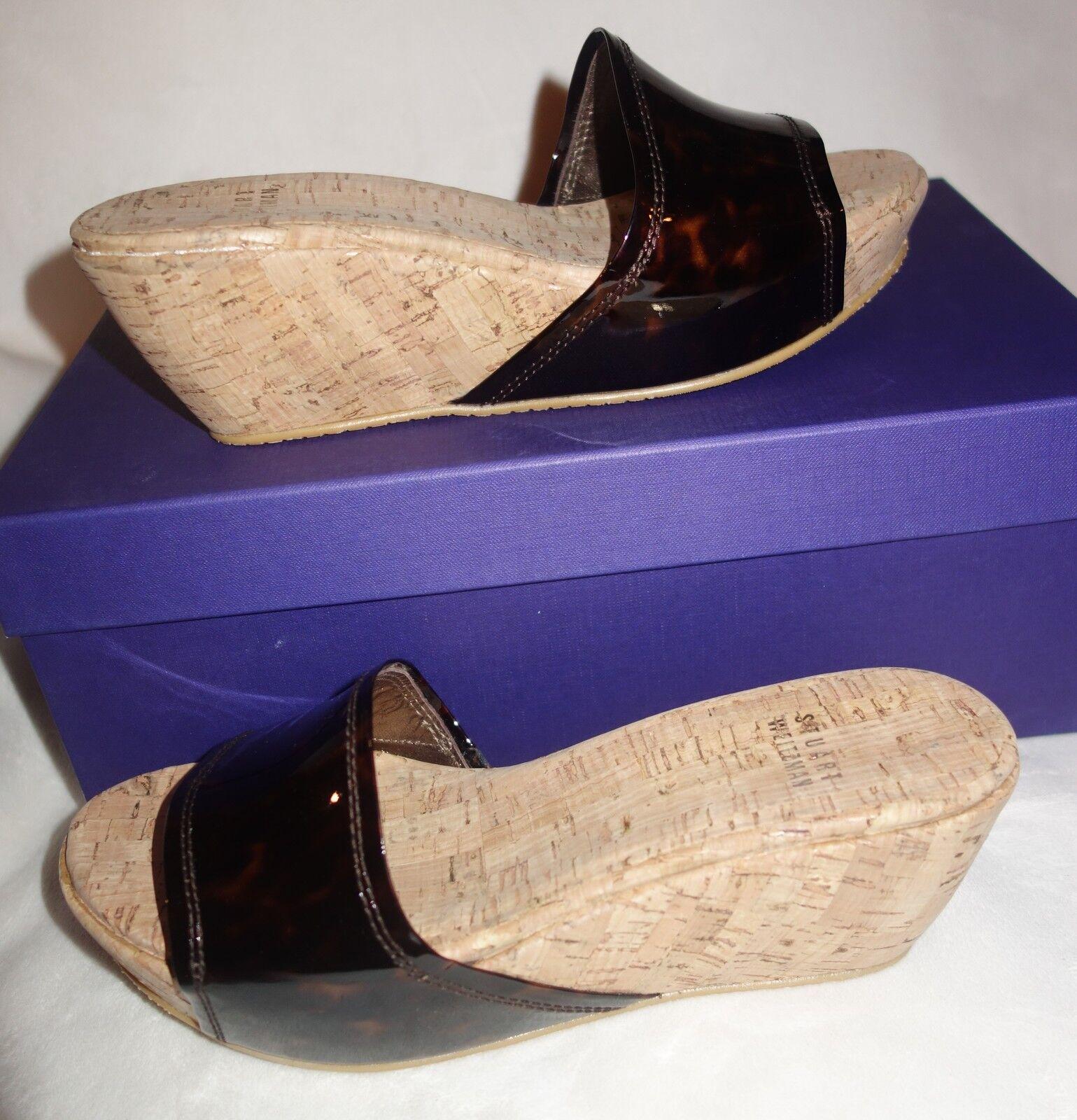 prendi l'ultimo Stuart Weitzman Kimono wedge wedge wedge scarpe Cognac Tartaruga  sz 37 US SZ 6.5 new  marchio famoso