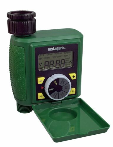 Programmable Water Timer Auto On//Off With Rain Delay Plus Manual Control