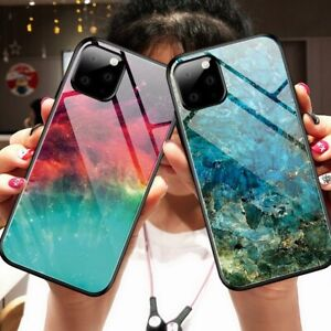 For-Phone-11-Pro-Max-XR-XS-Max-7-8-6-Plus-3D-Pattern-Marble-Tempered-Glass-Case