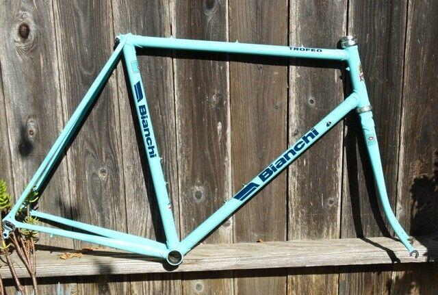 55cm Bian  TROFEO - Vintage,  steel frame-set. Refinished plus extras  lightning delivery