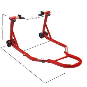 Cavalletti-Cavalletto-Rosso-posteriore-per-moto-con-attacchi-a-piastre